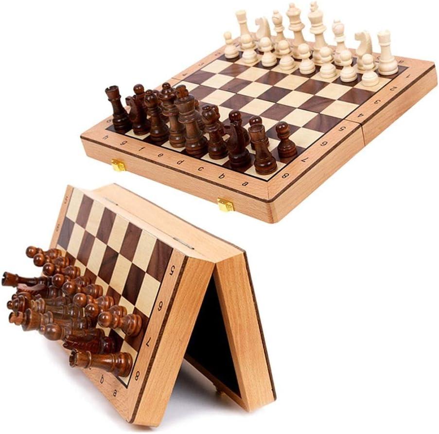VREF Chess Set Wooden Storage Max 66% OFF Game Fo Set,Internal Super sale