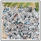 XIAMU Diario Álbum Decorado Mano de Dibujos Animados Expresión de línea de Cuenta Alice Aventura Pegatina 40 Piezas