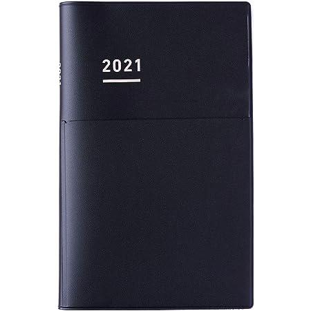 コクヨ ジブン手帳 Biz mini 手帳 2021年 B6 スリム マンスリー&ウィークリー マットブラック ニ-JBM1D-21 2020年 12月始まり