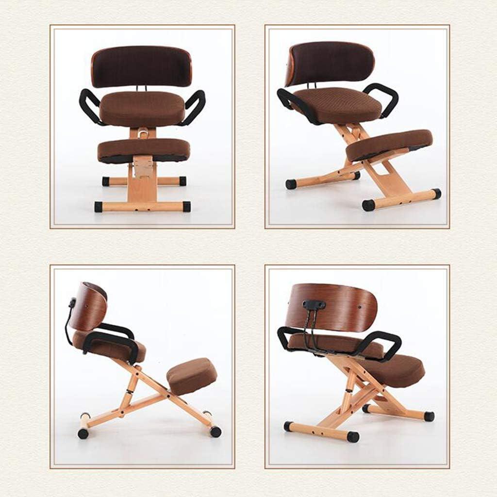 Chaise ergonomique YAMMY - Chaise de bureau réglable avec assise épaisse - Repose-genoux - Tabouret à main - Chaise de bureau C C