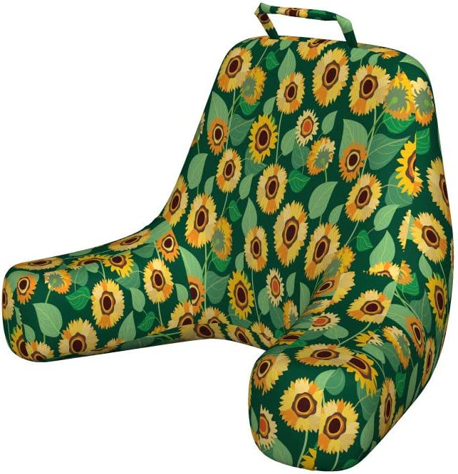 Lunarable Max 64% OFF Sunflower Reading Pillow Cover price In Rural Field Pattern