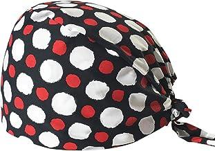TENDYCOCO Gorro quir/úrgico de Lunares Estampado Sombrero de Tiras Gorro de Enfermera m/édico Gorro de Trabajo para Mujeres Hombres