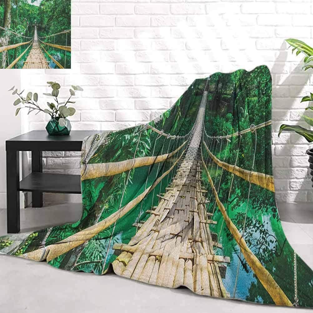 Tropical Bamboo Max 56% OFF Pedestrian Suspension Bridge Over River Tropi shop in