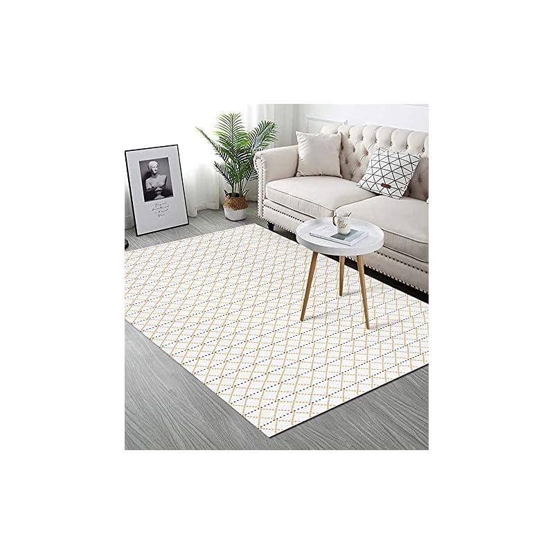 silk flower arrangements upgraded boho area rug 3'x5', yellow diamond, 100% woven boho rug for bedroom, tassel rug for living room/bedroom