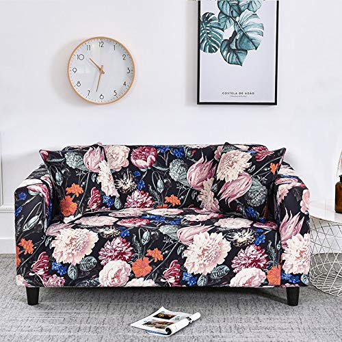WXQY Funda de sofá elástica con Todo Incluido para Sala de Estar Funda de sofá elástica a Prueba de Polvo en Forma de L sofá de Esquina Toalla Funda de sofá A16 1 Plaza