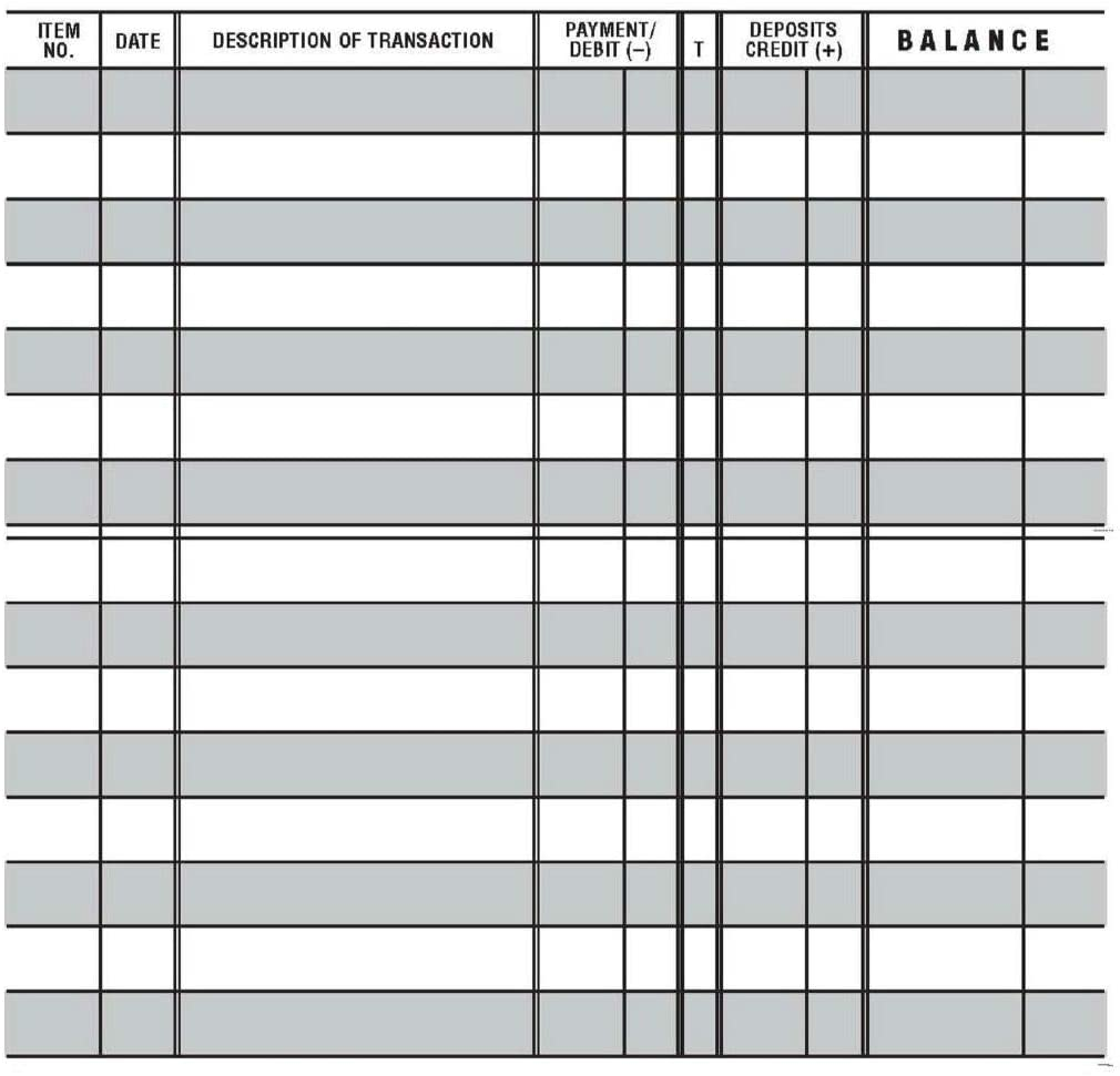 1 Easy to Read Checkbook Check Large Directly managed store Transaction Ranking TOP4 Print Register