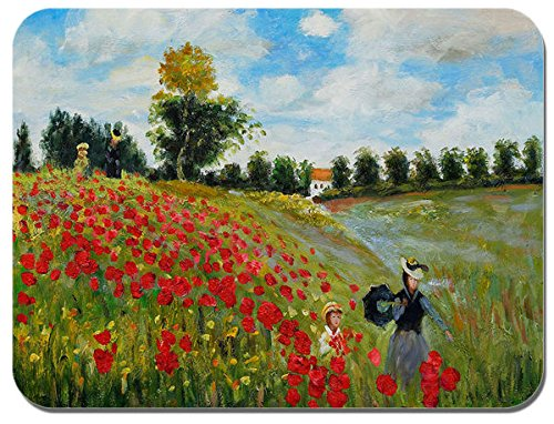 Campo di papaveri Claude Monet in Argenteuil tappetino per il Mouse. Stampa Mouse Pad