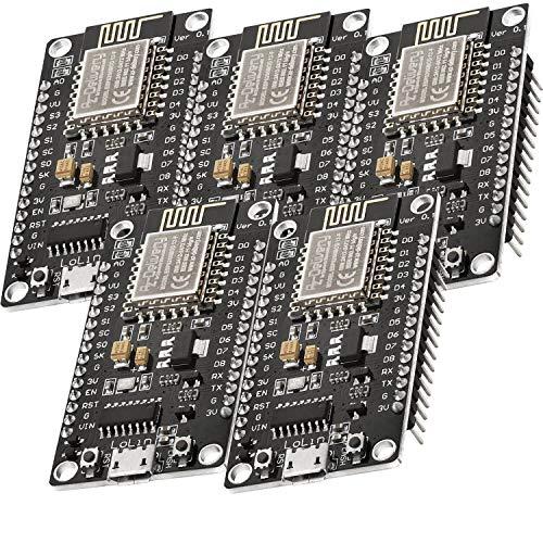 AZDelivery 5 x NodeMCU Lua Lolin V3 Module ESP8266 ESP-12F WIFI Wifi Development Board mit CH340 inklusive E-Book!