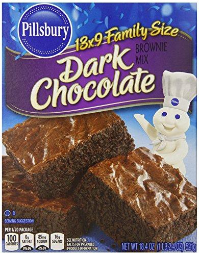 Pillsbury Brownie Mix, Dark Chocolate, 18.4 Ounce