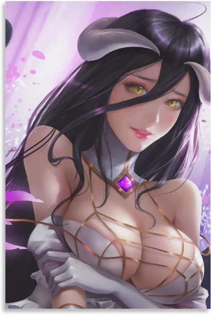 Ranking TOP15 Demon Girls Succubus Albedo Posters Free shipping 24×36 Frameless Inches Canva