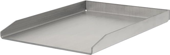 BBQ-TORO Edelstahl Grillplatte, BBQ Plancha, rechteckig, 30 x 40 cm, universal und massiv, Grillblech, Bratplatte für Holzkohle-, Gasgrill und mehr