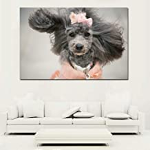 TYLPK Creative Cartoon Cute Dog Animal Poster Canvas Print Living Room Girl Decoración de Interiores Mural A3 50x70cm