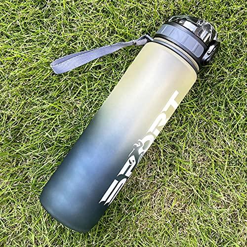 Bicchiere d'acqua Bollitore in plastica Sport Sport Sport Cup Boll Sigillato-Nero_1000ml