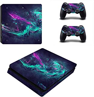 Toys BY060106 Fashion Sticker Icon Protective Film for PS4 Slim