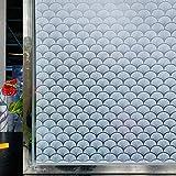 Vinilo adhesivo para ventana 3D mate, para baño, 45 x 200 cm