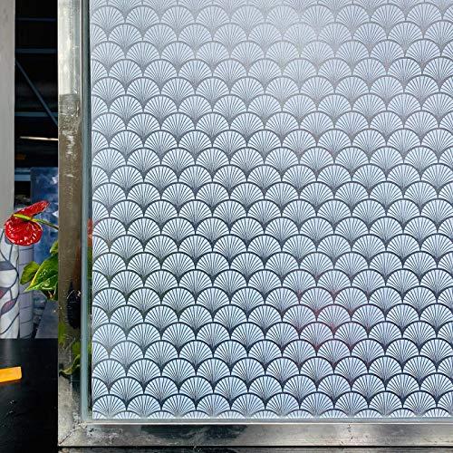 WWWL Fensterfolie 3D Matt Fenster Film Glasmalerei dekorative Vinyl Aufkleber Frosted Selbstklebende Film Privatsphäre Fenster Aufkleber für Badezimmer