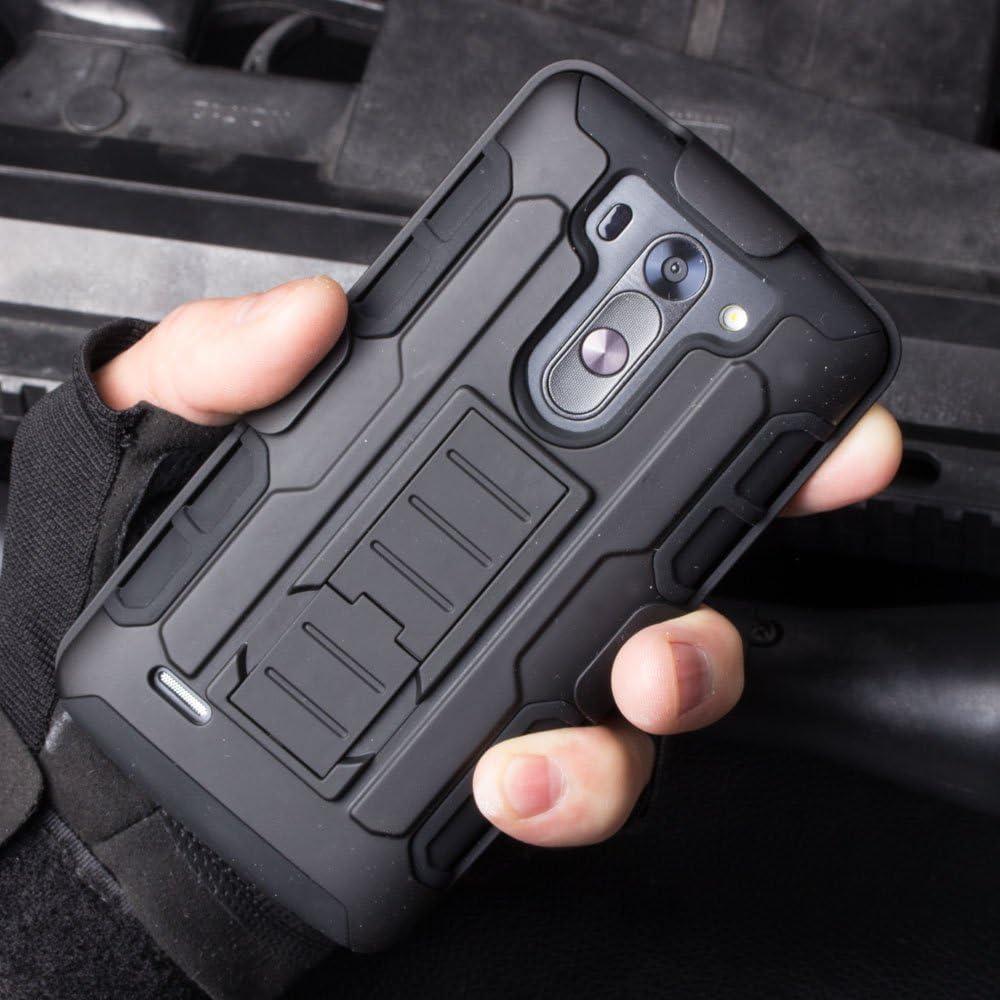 Cocomii Robot Belt Clip Holster LG G Vista Case, Slim Thin Matte Kickstand Swivel Belt Clip Holster Reinforced Drop Protection Fashion Phone Case Bumper Cover Compatible with LG G Vista (Black)