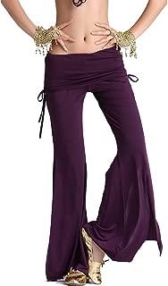Women's Belly Dance Slit Pants Milk Silk