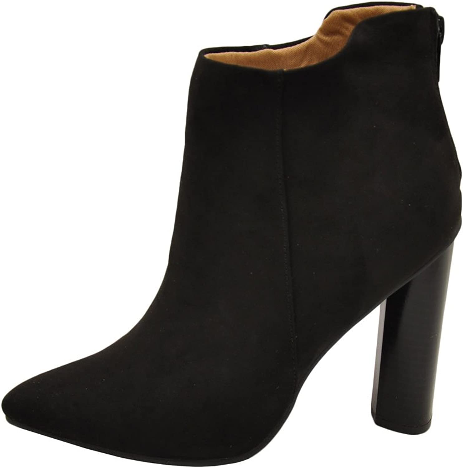 Qupid Parma 06 Women's Pointy Toe Snake Ankle Booties