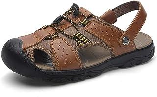Yi-xir Design Classique Sandales extérieures pour Hommes Summer Summer Beach Chaussures fermées Toe Marche Fisherman Slipp...