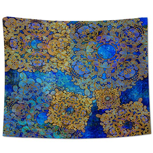 Yo Chairon Tapiz para colgar en la pared, diseño tradicional persa tapiz para el hogar, oficina, cocina, dormitorio, sala de estar, estilo oriental marroquí, bohemio, 130 x 150 cm