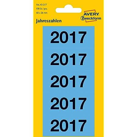 HERMA 1680 Jahreszahlen Aufkleber 2020 für Ordner 60 x 26 mm, Papier, matt,
