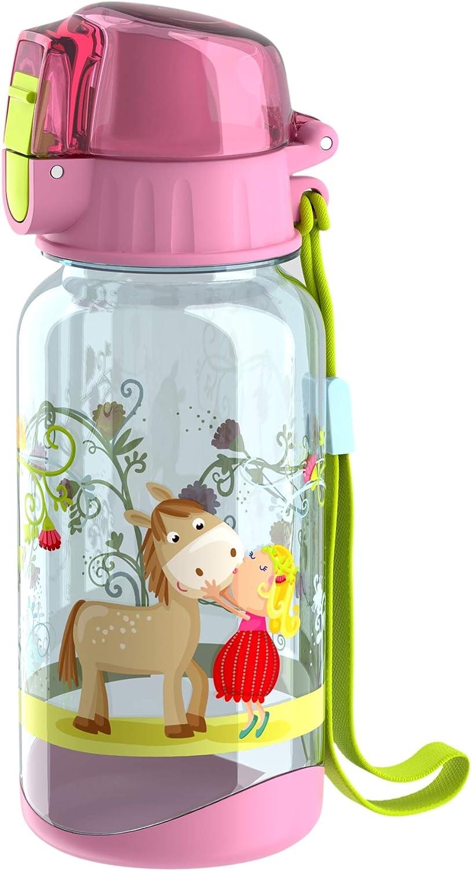 HABA 305152 per lavastoviglie Borraccia Dinos con grande apertura e tappo di chiusura 400 ml in plastica senza BPA