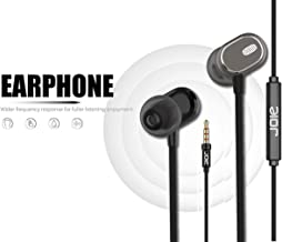 Nwark/Joie® Present 3.5MM Earphones [Upgraded Pro Version] Wired in-Ear Earbuds w/Mic, Noise Cancelling Sports Earphones Compatible with All 3.5 mm Jack Mobile Phone (Coffee Colour)