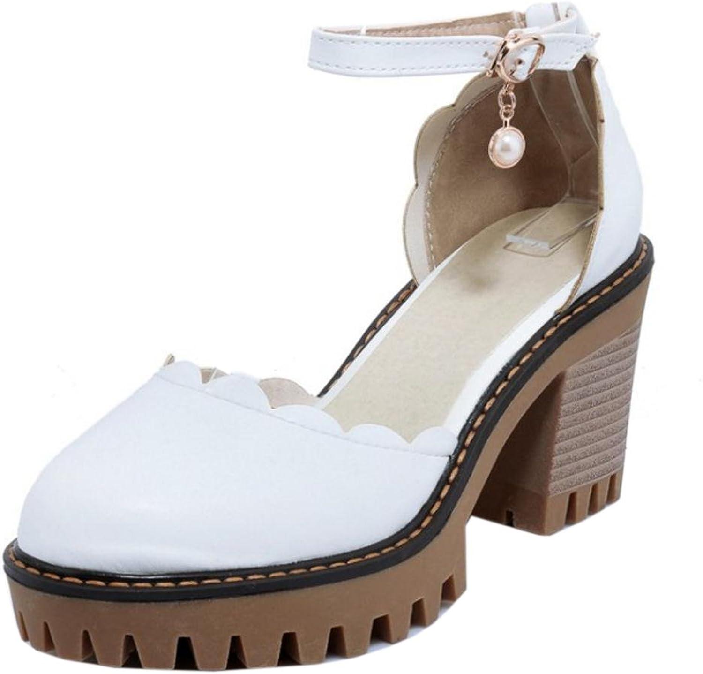 KemeKiss Women Summer Ankle Strap Pumps