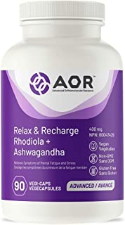 AOR - Relax & Recharge 90 Capsules - Ancient Herbs to Help You Adapt to Stress