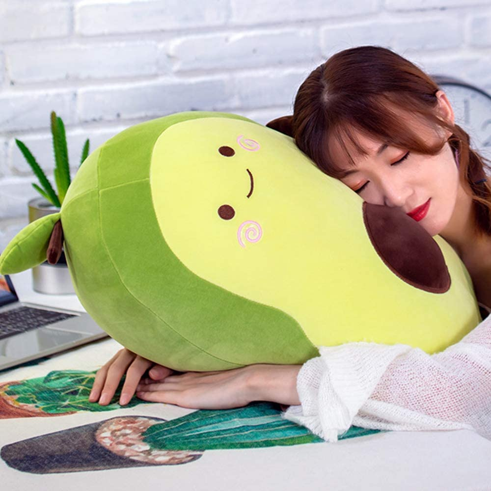 35cm Stuffed Plush Avocado Toy Fruit Plush Stuffed Cotton Pillow Cute Avocado Doll Plush Toy for Boy Girl Christmas Birthday Gift