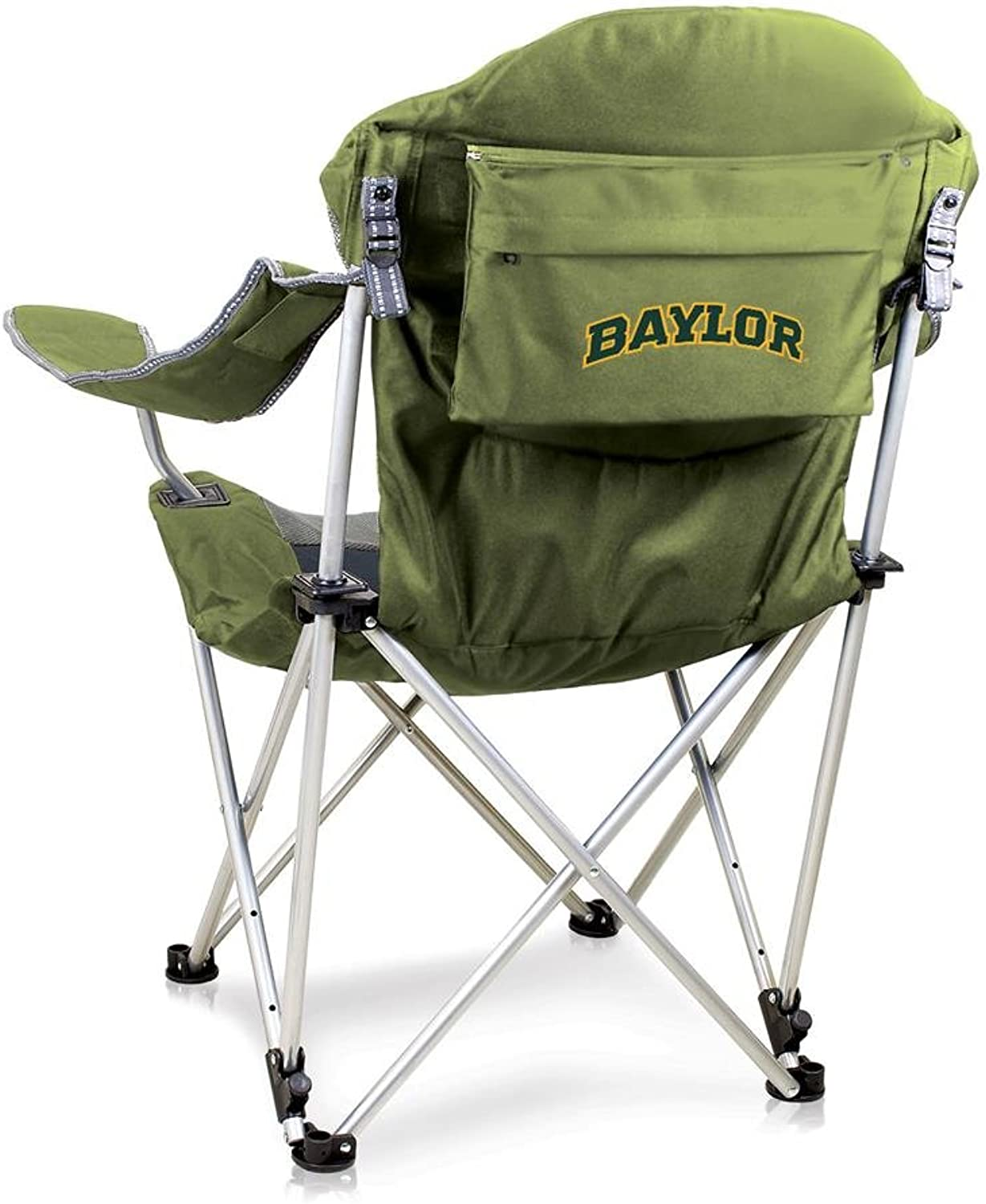 NCAA Baylor University Digital Print Reclining Camp Chair, Sage, One Size