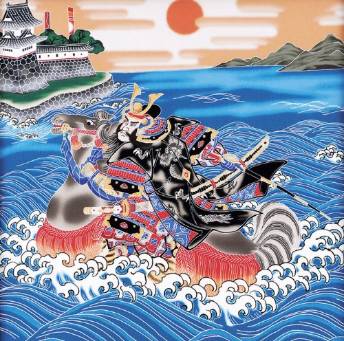 人形と鯉のぼりの村上『本染め室内のぼり波間武者(ts-020)』
