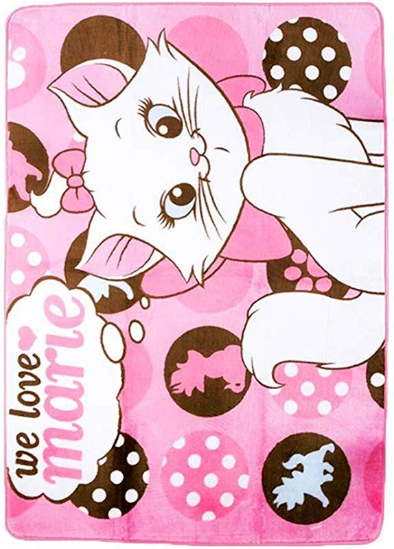 HOLY HOME Girl Kids Carpet Play Mat Rug Marie Cat Favorite Gifts For Children Baby Bedroom Playroom Game Playing Mat Pink Rug 72 Inchesx51 Inches