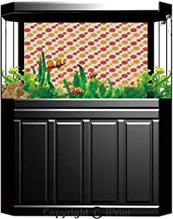 Aquarium Fish Tank Background,Kids,Cute Monsters Pattern Dinosaurs Caricature Cartoon Style Funny Creature Playroom Print,Multicolor,Decor Paper Green Water Grass Aquatic Style Like Real,W24.02