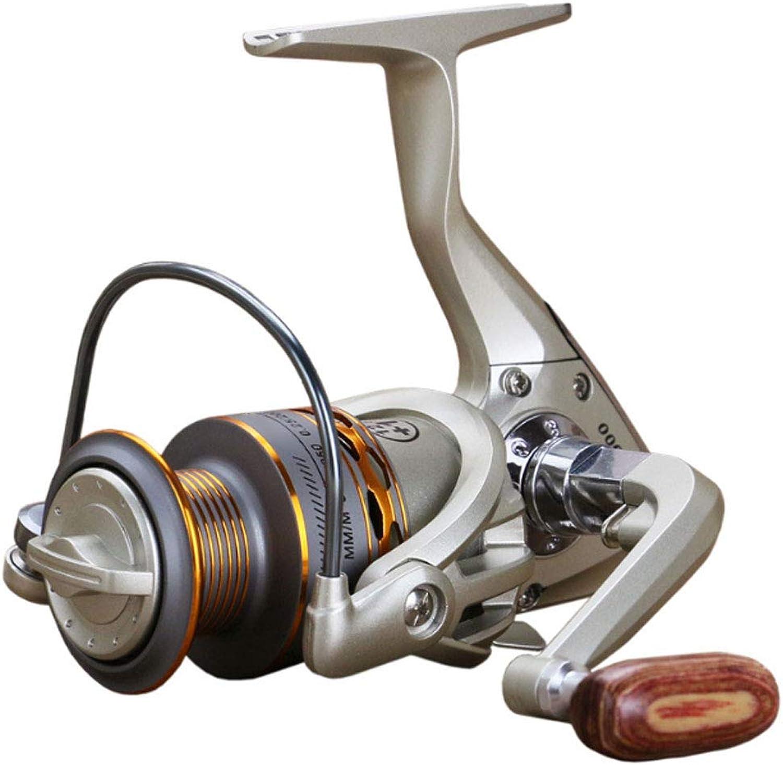 Reel Fishing Reels, Spinning Reel Smooth 10007000 Series Sealed Drag Lightweight Spinning Freshwater Saltwater Boat Fishing (Beige)