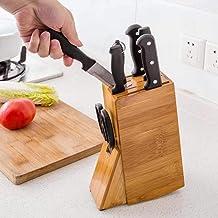 Porta facas em bambu natural suporte para facas