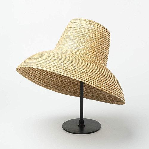QQHBC Chapeau De Paille Chapeau De Soleil Populaire en Forme De Lampe pour Femmes Chapeau De Plage D'été à Bord Large Et Large pour Dames Haut Haut Prougeection, Chapeau De Voyage