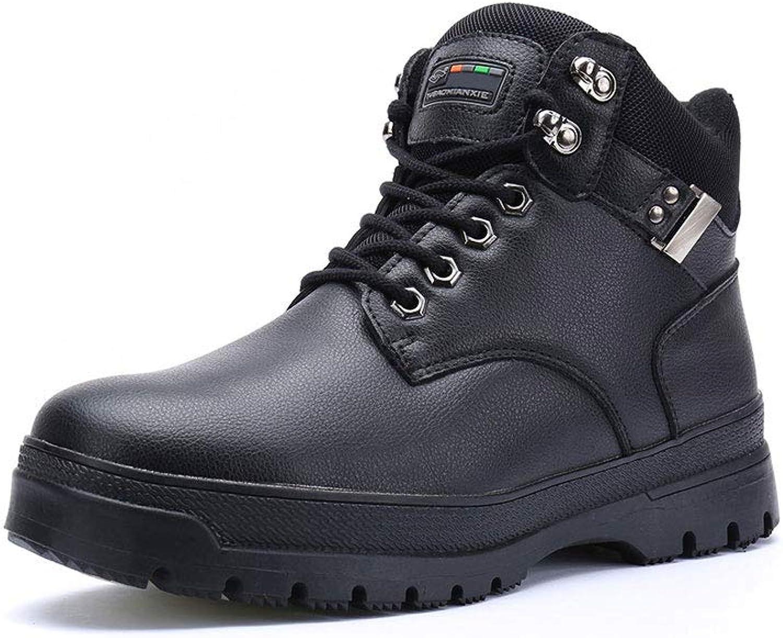 Ailj Snow Boots, Men's Warm Boots, Winter Boots, Flat Boots, Boots, Martin Boots, Cotton Boots, Non-Slip Waterproof, (Black) (color   Black, Size   45 EU 12 US 11 UK 27.5cm JP)