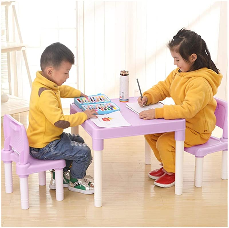 Modern Kids Furniture Set Midress Plastic Little Kids Table And 2 Chairs Set Set For Boys Or Girls Toddler Activity Table Chair Set Study Table Pink