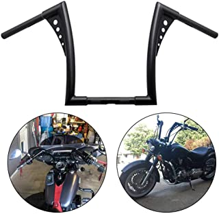 Motorcycle Rise Batwing Ape Handlebar Hanger Bar for Harley Softail FLST FXST Sportster XL (14'', Black)