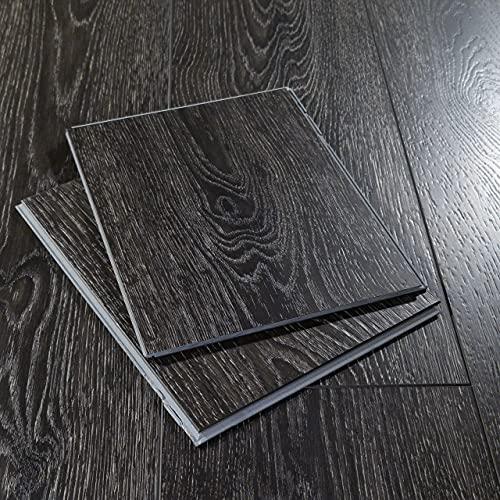 """Vinyl Plank Flooring, DIY Click Installation, 40 Mil Wear Layer, Waterproof Flooring, Madeira, 12"""" Cut Sample"""