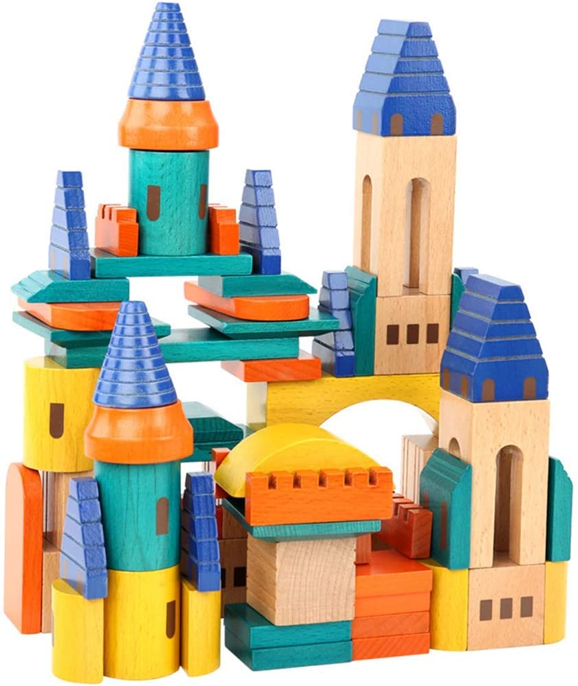 Super sale period limited Wooden Castle Building Blocks Sales for sale Ed Set-Stacking Wood