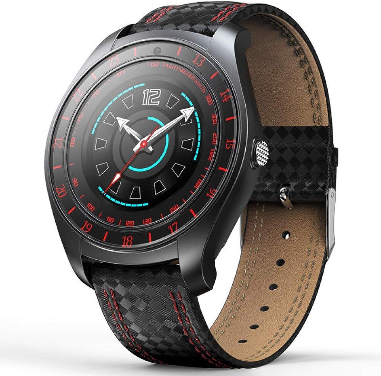OFSAQWF Kamera Smart Watch Android Unterstützung Pulsmesser SIM-Karte Blautooth Smartwatch für Mnner Frauen Mode Uhren rot