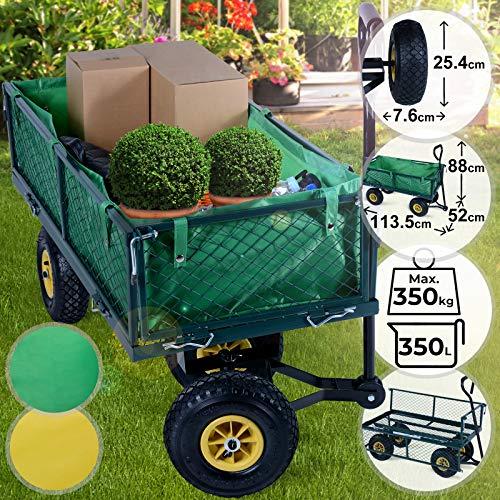 Chariot de Transport - avec Roues Pneumatiques, Charge Max. 350...