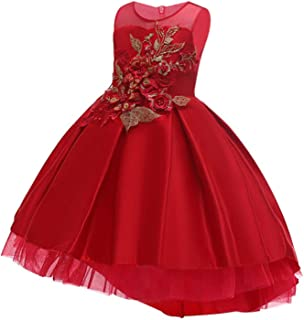 Cotton Lining Baby Girls Dress Fo Wedding Party Dresses Kids Princess Summer Children Clothing Age 2-10 T