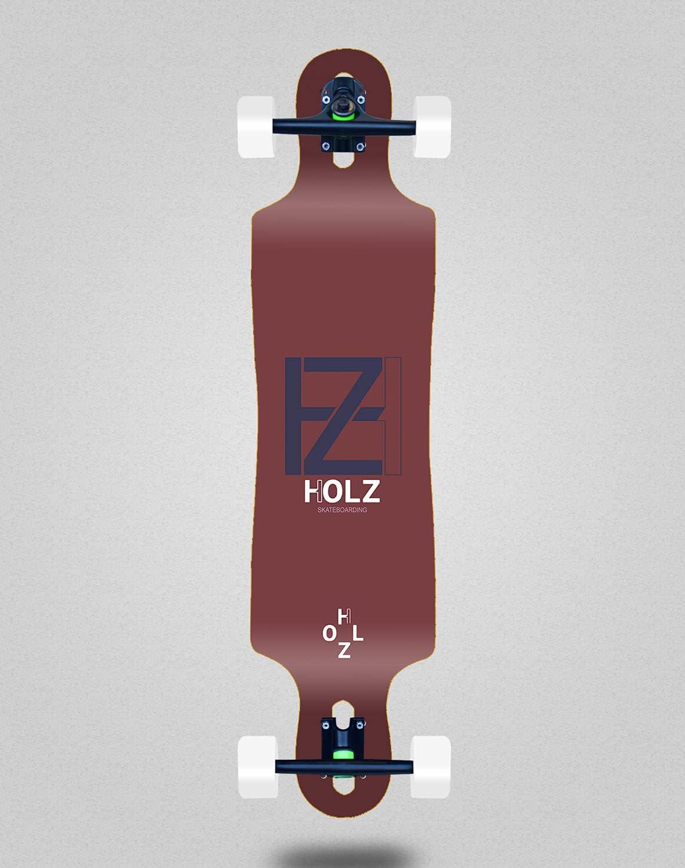 Holz Skateboard Complete Longboard 40 x Blood quality assurance Blue 9 Super Special SALE held Drop Basic