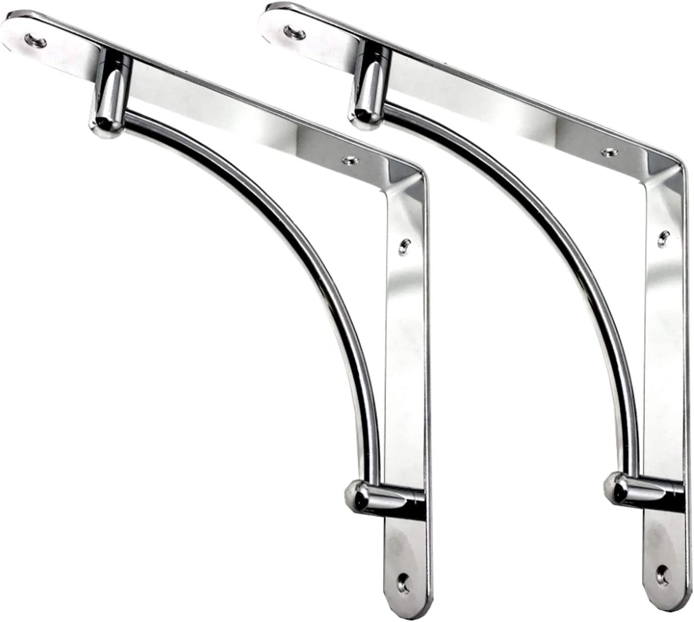Bright Chrome Small Shelf Brackets Perfect for Shelves and Cisterns. Sinks