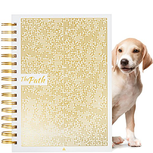 Bullet Journal - Best Calendar Planner to Achieve Any Goal & Master Productivity - Passion Notebook - Happy Planner Undated Weekly Planner- Gift Set for Her + Free Gold Metallic Pen