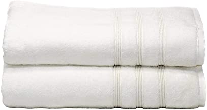 700 GSM Luxury Bath Towels, Set of 2 - White - 30X58 inch - Bamboo & Turkish Cotton, Resort Style, Hotel Quality - Silky Soft - Large & Oversized Towel Sheets for Maximum Coverage - Plush & Fluffy